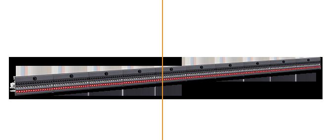 Narrow pitch creel bar